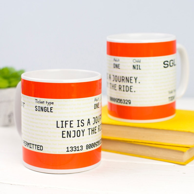 Train Ticket Mug Mug Ceramic Mug Travel Quote Travel Gift Etsy