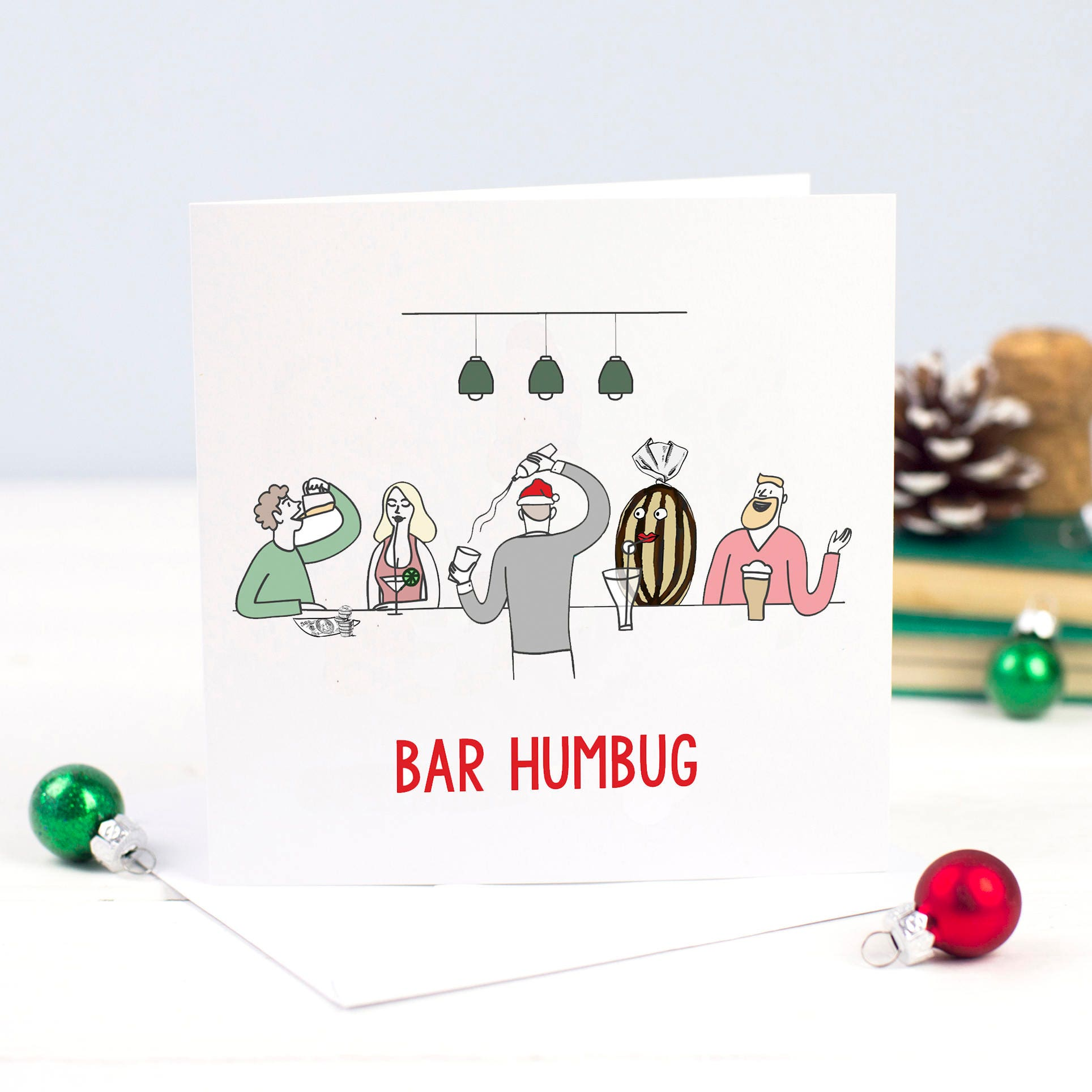 Funny Christmas Card Pun Bah Humbug Christmas Pun Holiday | Etsy