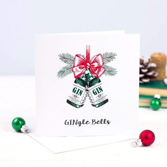 Gin Christmas Card Gin-gle Bells