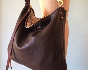 35ddff4942 Brown leather crossbody bag