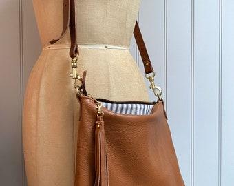 Brown leather Miss Mason bag, brown leather purse, brown handbag