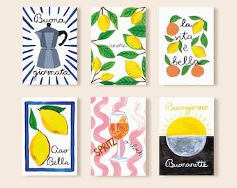 La Vita è Bella A6 postcard set