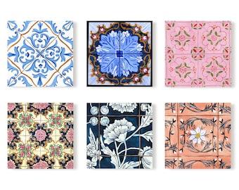 Italian tiles postcard set