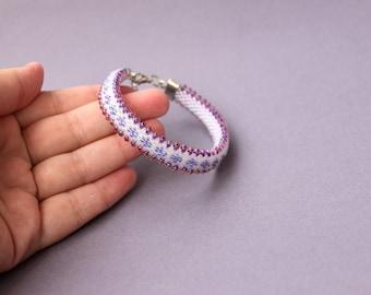 Rote Zick Zack Perlen Armband Perlen Häkeln Perlen Seil Etsy