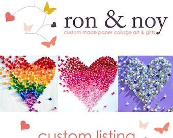 Custom Order for BERRY -  3D Silver Butterfly Heart / Wedding Gift / 25th Anniversary / Romantic Art / Housewarming / Conversation Piece