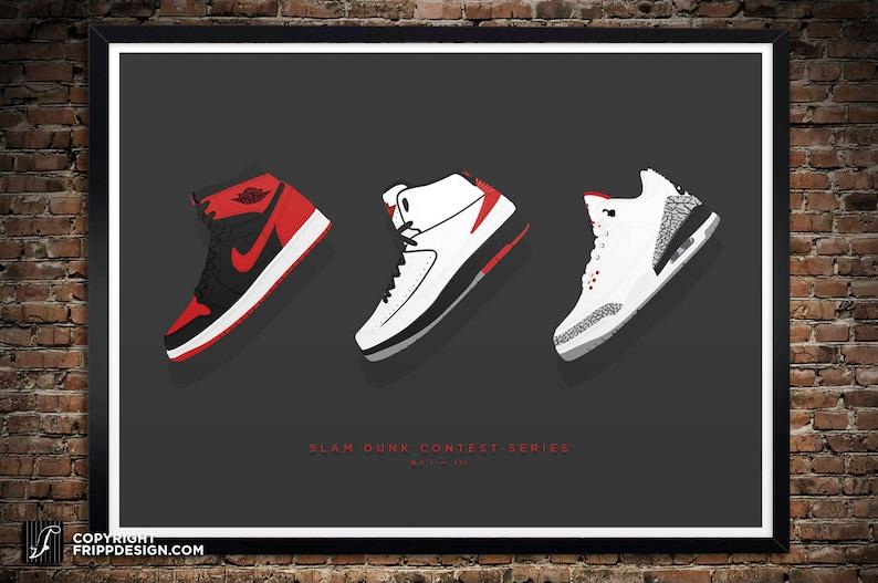 b53f65485abd44 Air Jordan 1 2 3 Slam Dunk Series Illustration