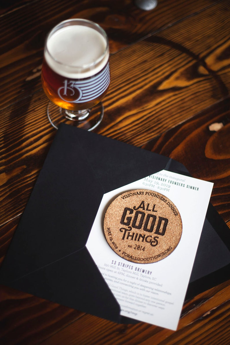 Cork Invitation for Special Brewery Event image 0
