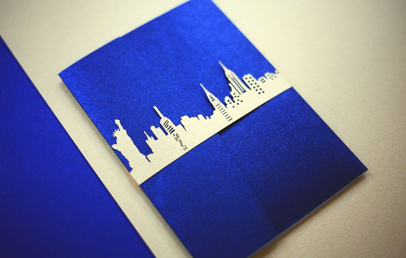 New York City Skyline Laser Cut Belly Band image 0