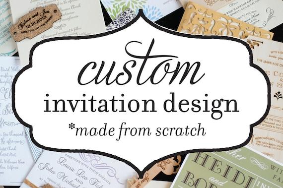 Custom Wedding Invitation Package Custom Invitation Design Etsy