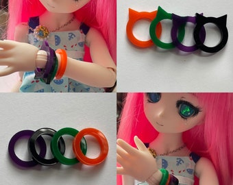 Halloween Mini Dollfie Dream Acrylic Bracelet Multi Pack