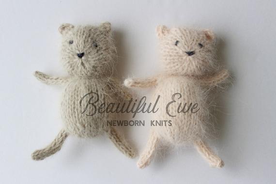 Tiny Teddy Bear Knitting Pattern Etsy