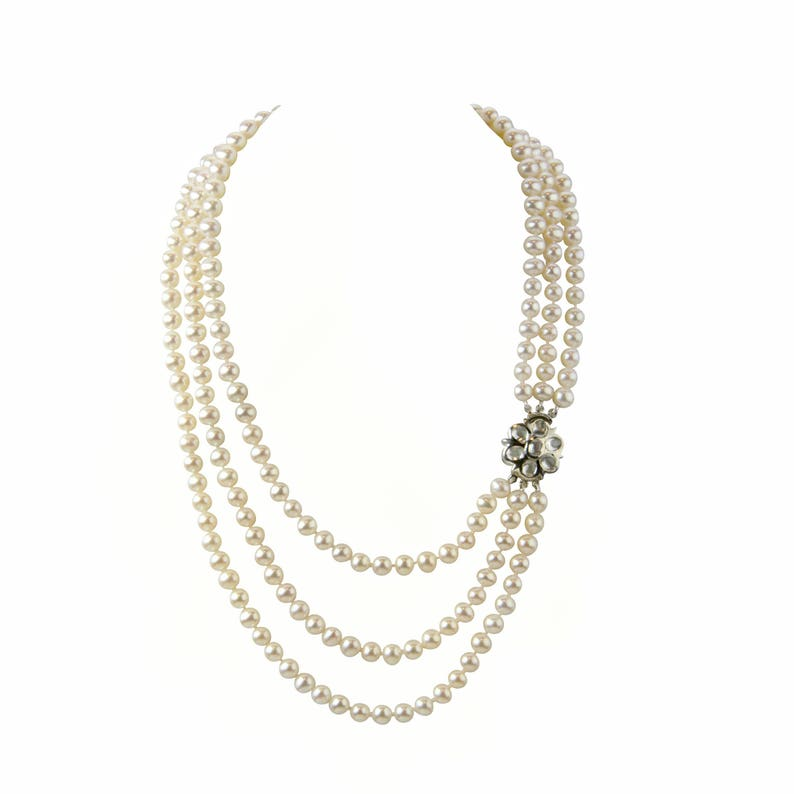 Pearl Romance II Round Pearl II Classic Cultured Freshwater Black Strand Pearl Necklace for Women Jewelry Christmas Genuine