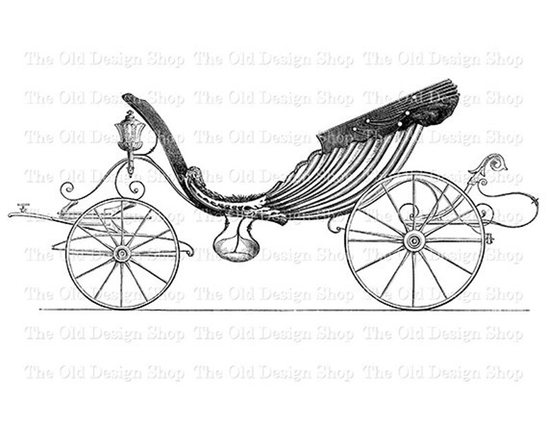 Antique Horse Drawn Carriage Vintage Transportation Clip Art