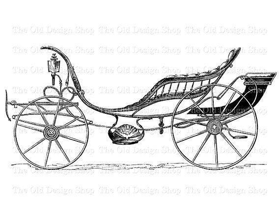 Antique Horse Drawn Carriage Printable Vintage Transportation