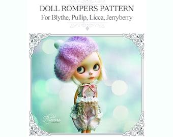 DOLL ROMPERS E-PATTERN For Blythe, Pullip, Imda 2.2, Jerryberry By Odd Princess, Step By Step Instructions