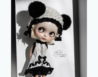 WHIMSICAL PANDA Blythe/Pullip Helmet Set By Odd Princess Atelier, Exclusive Collection 2021