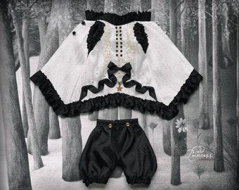 "Blythe/Pullip/Jerryberry/Imda/Yosd Silk Set ""BLACK&WHITE MEMORIES"" By Odd Princess Atelier, Exclusive Collection 2021"
