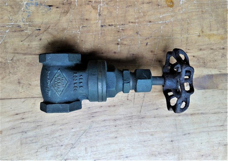 Large Vintage 34 Jenkins Gate Valve Pipe Industrial Brass Plumbing Fitting Steampunk Repurpose Garden Art Installation Spigot Handle