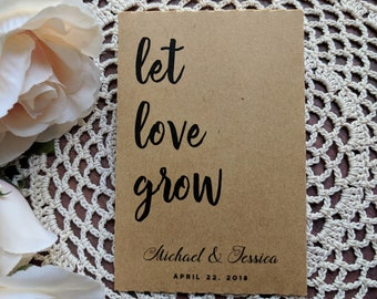 Seed Wedding Favors Etsy