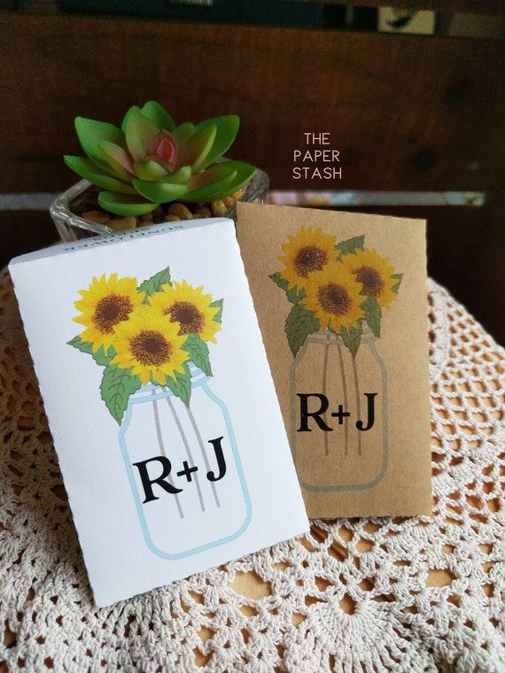 Sunflower Seed Packet Custom Monogram Initials Seed Etsy