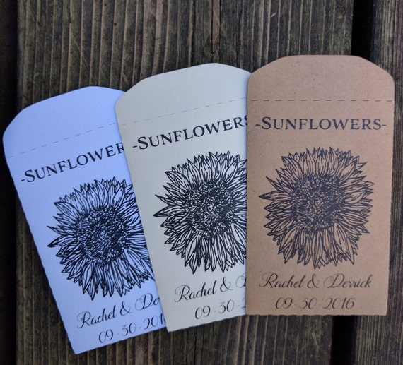 Seed Packets Sunflowers Seed Envelopes Wedding Favours Etsy