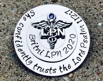 ready to ship nurse graduation gift np pinning ceremony blue nurse practitioner pin