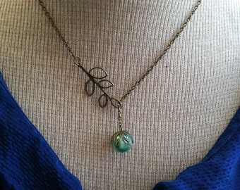 Sea Green  Lariat Necklace