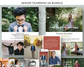 Yearbook Ads Photoshop Templates for photographers | Etsy