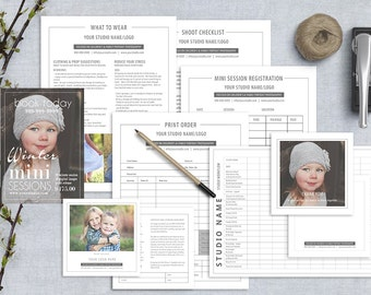 Photography Marketing Template, Photoshop Templates with Pricing Guide, Business Forms, Contracts, Model Release Form, PB101