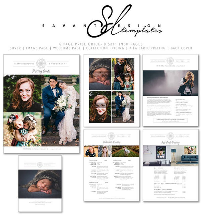Pography Templates | Photography Price Guide Pricing Template For Photographers Etsy
