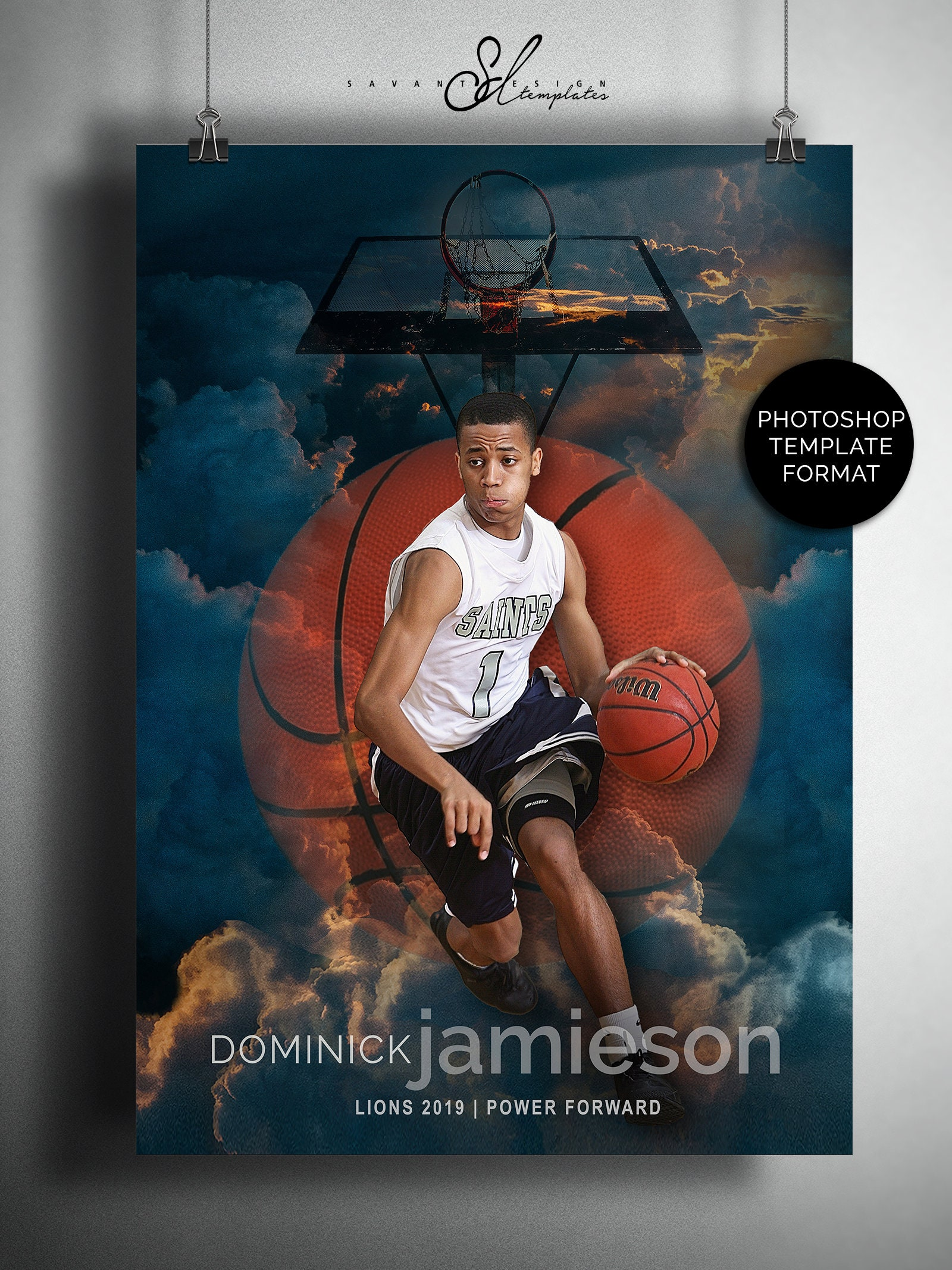 Basketball Template Sports Poster Template Collage Template Etsy