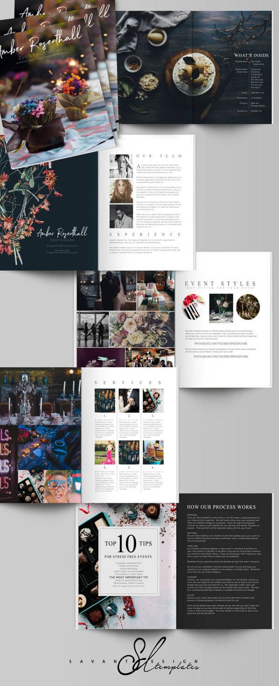 Event Planner Magazine Template Marketing Magazine Brochure Etsy