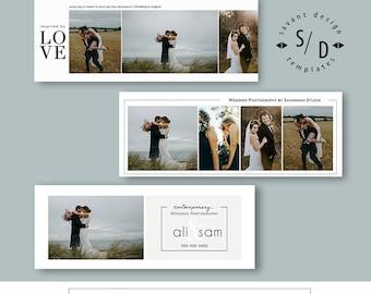 Wedding Photography, Facebook Timeline Template, Photoshop Templates, Set 2, INSTANT DOWNLOAD