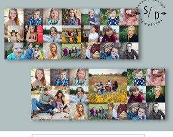 Facebook Timeline Template, Collage, Facebook Banner, Photoshop Templates, INSTANT DOWNLOAD
