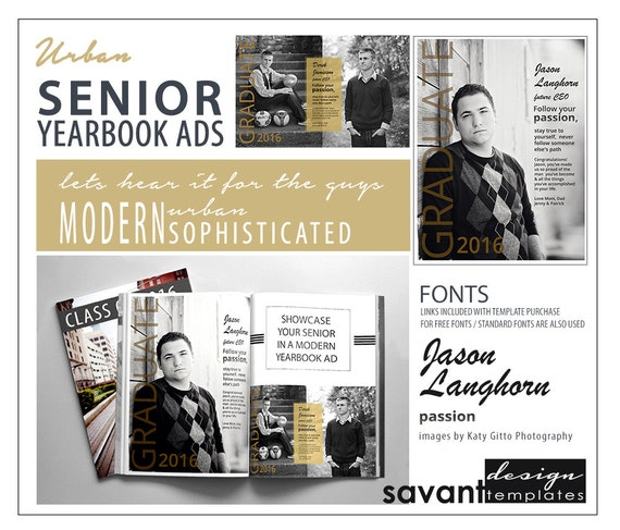 yearbook ads senior graduation photoshop templates urban