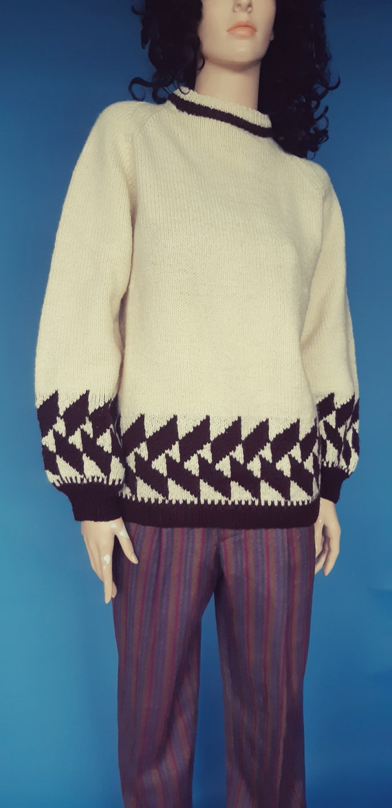 hand knit wool sweater pullover
