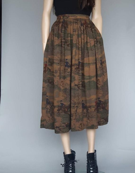 Ralph Lauren skirt equestrian full midi skirt size