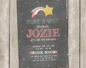 Make a Wish Birthday Invitation