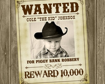 Wanted Cowboy Poster