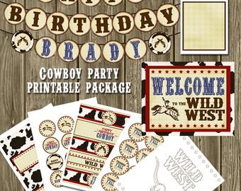 Cowboy Birthday Printables Package