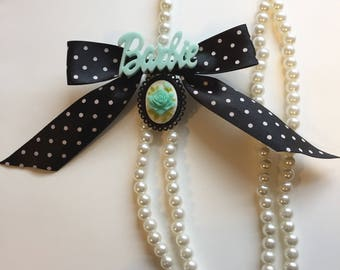 Barbie Pearl and Polkadot Necklaces