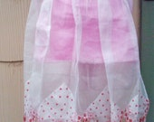 Vintage Half Apron Aprons Sheer Organdy Valentines Day Rockabilly Housewife