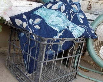 Vintage Milk Crate Metal Farmhouse Decor Rustic Kitchen Shabby Chic