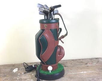 Huge Golf Bag Novelty Telephone, 17 inches tall, works perfect