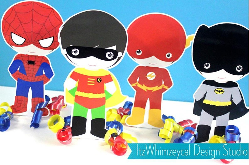 Classic Superhero Boy Set  Centerpiece