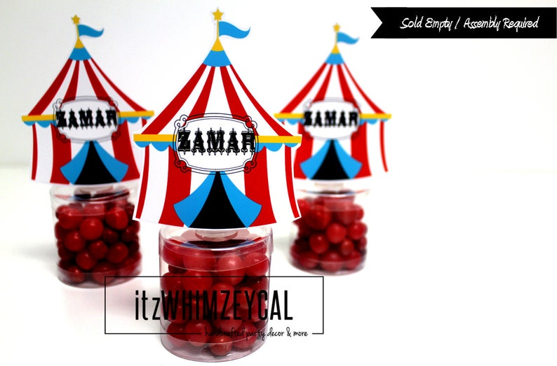 Circus Party Circus Themed Party Party Decoration Personalized Party Favor Carnvial Party Circus Tent  Party Favor