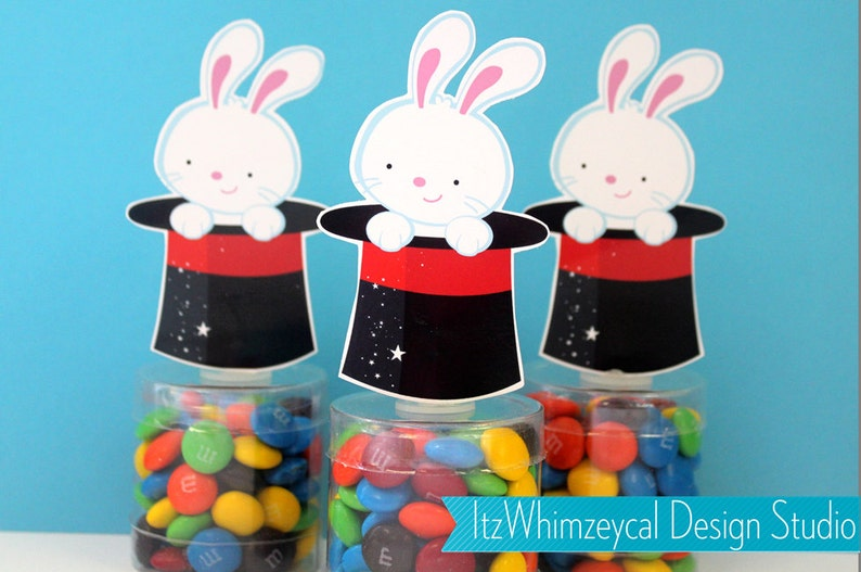 Magician Birthday Party Candy Container Party Favor Boxes Magic Show Kids Favors Magic Show Party Abracadabra Rabbit In Hat