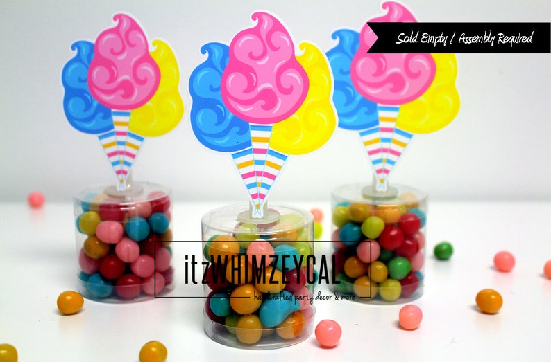Cotton Candy Party Favors Carnival Party Decorations Etsy