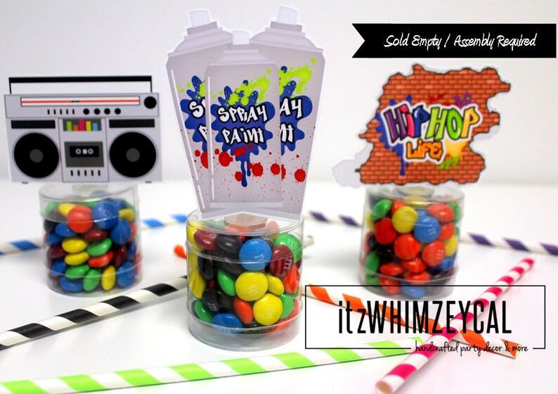 Hip Hop Party Favors 80 S Party Decorations Eighties Etsy