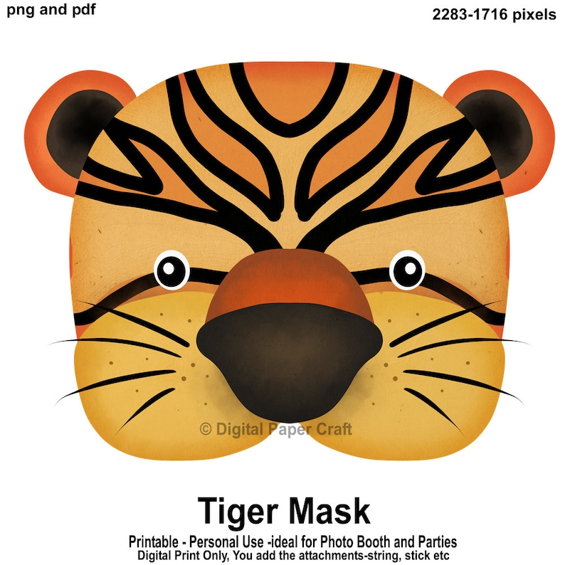 photo relating to Tiger Mask Printable identify Tiger Mask, Printable Mask, Tiger, Instantaneous down load